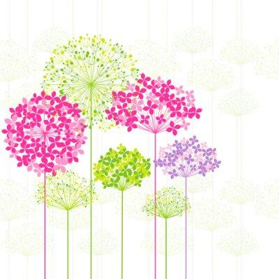 Obraz Wiosna kolorowe kwiaty na tle Dandelion