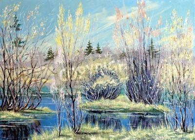 Obraz Wiosna wysoka woda