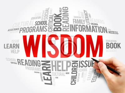 Obraz Wisdom word cloud collage