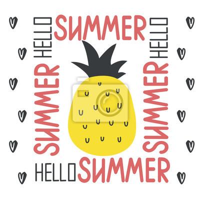 Witaj lato ilustracji