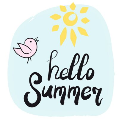 Witaj lato projekt karty