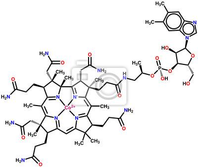 Witamina B12 (kobalamina) wzór strukturalny