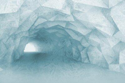 Obraz Włączanie światła niebieski tunelu wnętrze z ulgą kryształu
