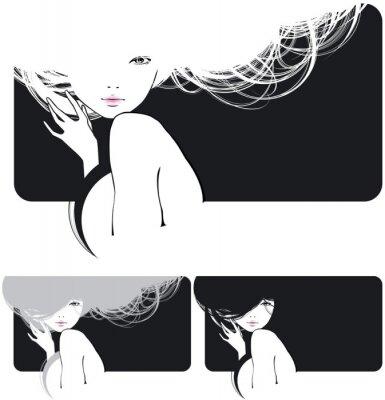 Obraz włosy, dziewczyna