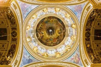 Obraz Wnętrze katedry Świętego Izaaka w Petersburgu, w Rosji