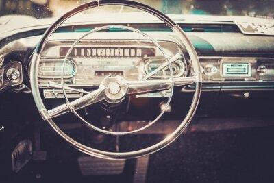 Obraz Wnętrze klasyczne samochodu amerykański
