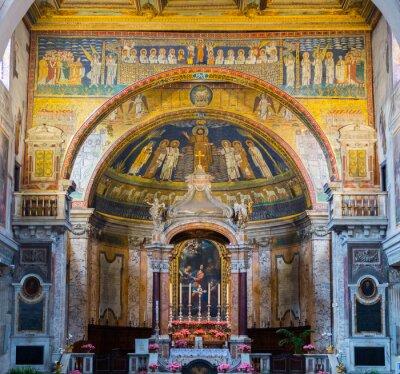 Obraz Wnętrze Kościoła Rzymskiego, Rzym, Włochy