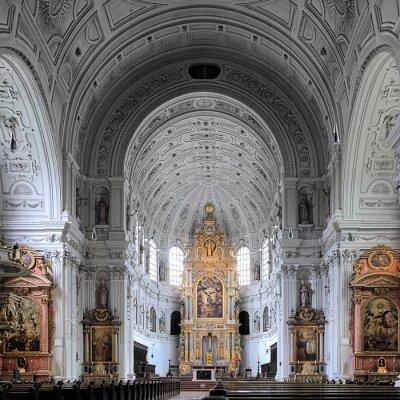 Obraz Wnętrze kościoła św Michała w Monachium, Niemcy