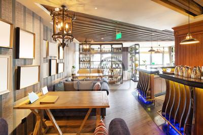 Obraz Wnętrze nowoczesnych kawiarni