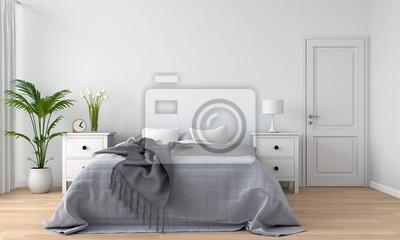 Obraz wnętrze sypialni, renderowania 3D