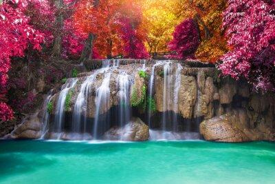 Obraz Wodospad dżungli głębokich lasów tropikalnych