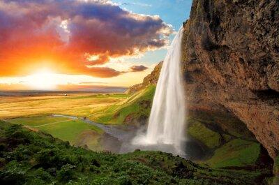 Obraz Wodospad, Islandia - Seljalandsfoss