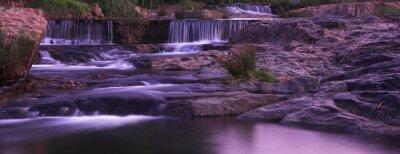 Obraz Wodospad słońca panorama