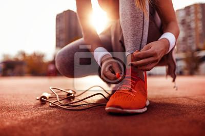 Obraz Woman preparing for jogging