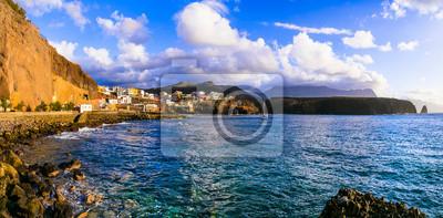 wonderful nature of Grand Canary island - beautiful fishing village Puerto de Sardina