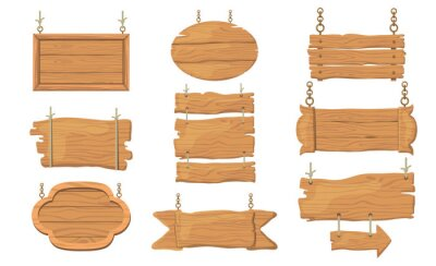Obraz Wooden signs set