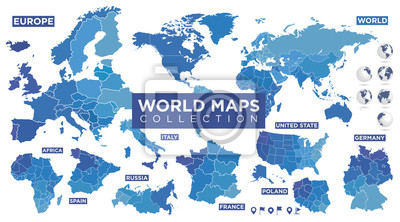 Obraz World map with countries