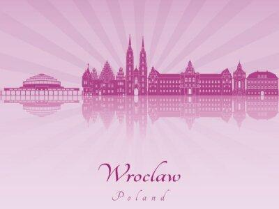 Obraz Wrocław panoramę promieniowania storczyka purpurowego