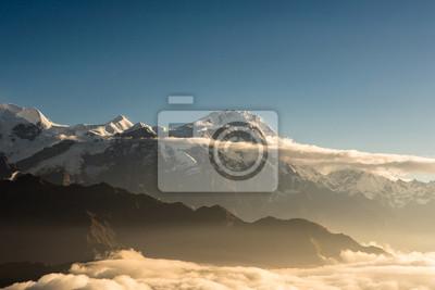 Wschód słońca nad Annapurna w Nepalu