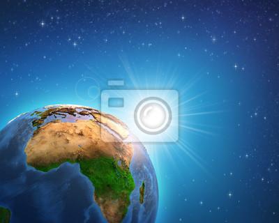 Wschód słońca nad Ziemią Afrykańską