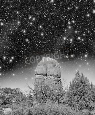 Wspaniała noc widok Arches National Park, Utah.