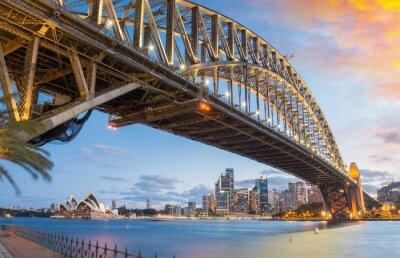 Wspaniałość Harbour Bridge o zmierzchu, Sydney