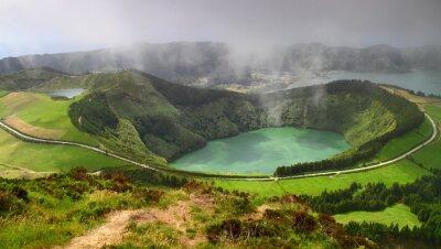 Obraz Wulkaniczne jezioro Sete Cidades w Sao Miguel