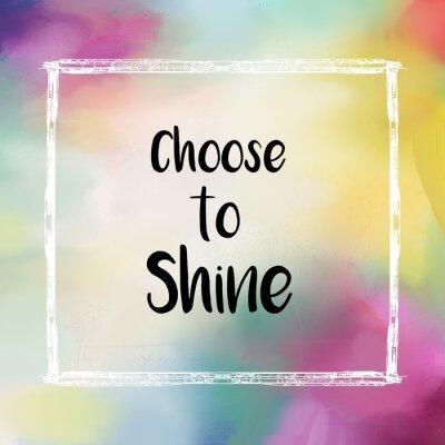 Obraz Wybierz świecić wiadomość na kolorowym tle