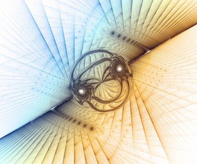 Obraz Wygenerowane komputerowo fraktalna grafiki