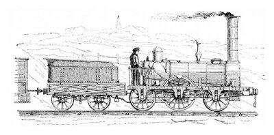 Obraz wypadki kolejowe, vintage grawerowanie.