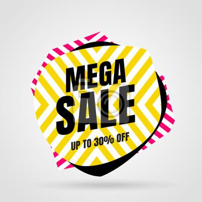 Wyprzedaż szablonów bannerów, oferta specjalna Mega sale. Baner ze specjalną ofertą na koniec sezonu. Ilustracji wektorowych.