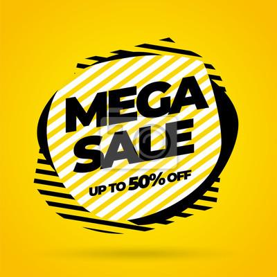 Wyprzedaż szablonów bannerów, oferta specjalna Mega sale. Ilustracji wektorowych.