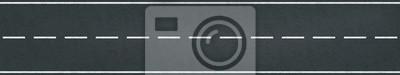 Obraz Wyścigowy tor ruchu drogowego wektor znakowania pasa