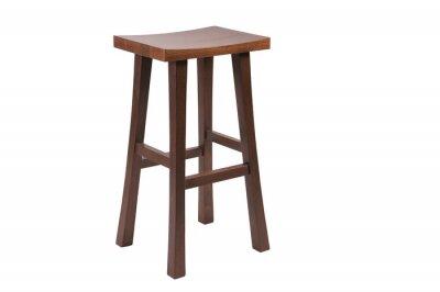Wysoki drewniany stołek barowy