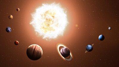 Obraz Wysokiej jakości planet układu słonecznego. Elementy tego zdjęcia dostarczone przez NASA