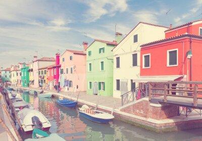Obraz Wyspa Burano, Wenecja, Włochy