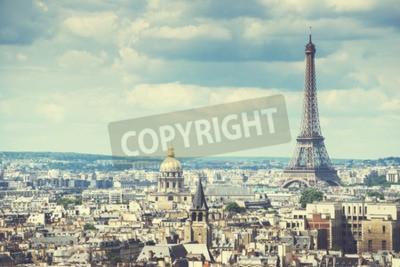 Obraz Wyświetlanie na wieży Eiffla, Paryż, Francja
