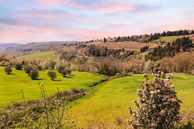 Obraz Wzgórza Toskanii, Włochy