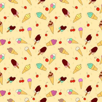Obraz Wzór lodów i wiśni