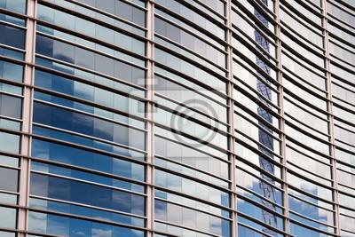 Wzór odbicie nieba na Curved Building