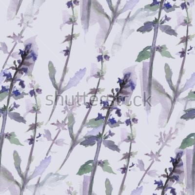 Obraz Wzór z akwarela kwiatami w formacie wektorowym.
