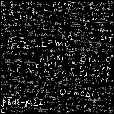 Obraz Wzory i równania fizyczne
