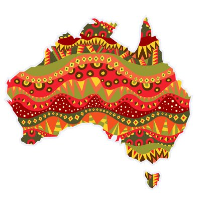 Obraz Wzorzyste Australia Kontynent
