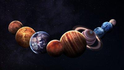 Obraz Wzrost jakości pojedyncze planety układu słonecznego. Elementy tego zdjęcia dostarczone przez NASA