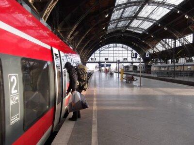 Obraz Wzrost pasażerów pociągu