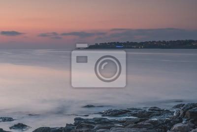 Рассвет на море. Фрагмент города Созополь