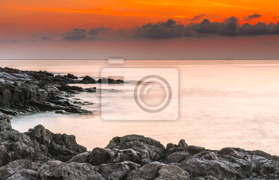 Рассвет на Черном море.