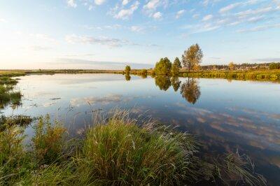 Obraz осенний пейзаж на берегу реки