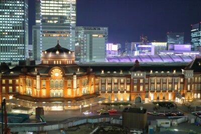 Obraz 東京 駅 · 夜景