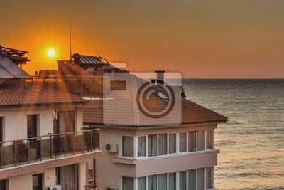 Рассвет в черноморском городе